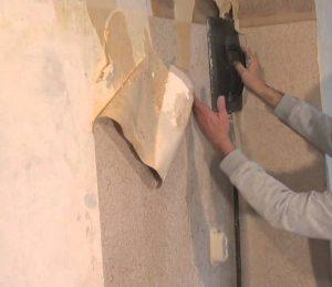 Behang  en behanglijm verwijderen 2